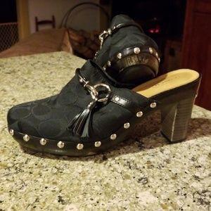 Coach Shoes - Coach Shasha canvas clogs size 9